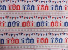 BEACH HUT  CHILDRENS PRINT FABRIC PER METRE